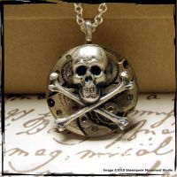 Gears and Pirates Necklace by SoulCatcher06