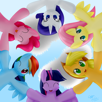 Mane 6 - Circle You, Circle You by extreme-sonic
