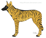 Canis Nudari Wild Adult by FRivArts