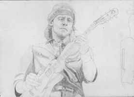Mark Knopfler Live Aid 1985 2 SKETCH  by Yankeestyle94