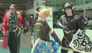 Aaron, Link, and Dark Link at Anime Expo 2013 by trivto