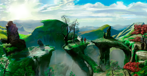 Landscape from Oz the Great and Powerful 2 by DreamyArtistRoxy3