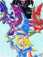 Duel Monsters: Dark Magicians by Linake