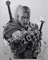The Witcher 3: Wild Hunt | Geralt of Rivia Drawing by Az1232014