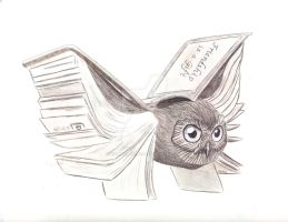 Book Owl by SophlyLaughing