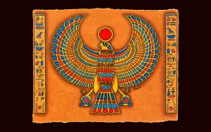 Sun God Horus by merlynhawk