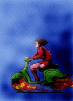 Velma's haunted Vespa by LondonJohnIII