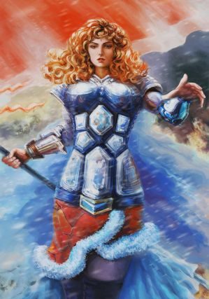 Joan of Arc in Fantasy world by Vilenchik