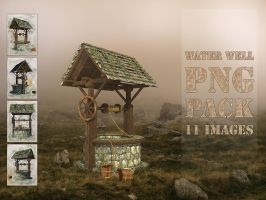 Medieval / Wishing / Water Well, PNG Pack by fumar-porros