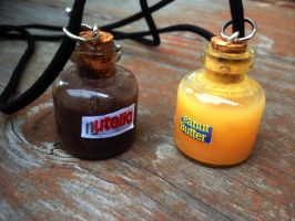 Peanut Butter and Nutella Necklace Set by SteamPixy