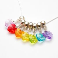 Rainbow Hearts necklace by FrozenNote