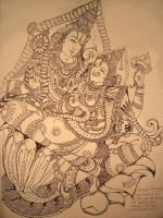 Sreenivasa and padmavathi by ajishrocks