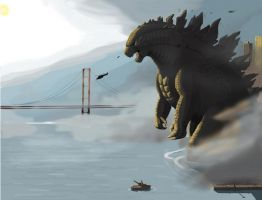 The Dawn of San Francisco - Godzilla 2014 by LemonxChanh