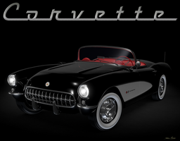 1957 Corvette by RayMontes