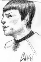 extremely sketchy sketch:Spock by MCRObsessedFrankFan
