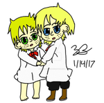 Smol Ethan and Nathan by Noizy-Bunny