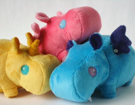 NOW AVAILABLE - Magic Hippo Plushies! by Pwyllo