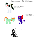 Original Species Pony Adopts by GrumpyTouhoutard