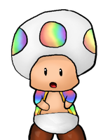 Rainbow Toad by AquaDewRose
