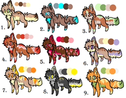 adoptables by Freckled-Kat