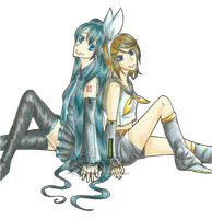 Miku and Rin by Le-Vampire-Cat
