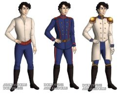 Prince Eric (The Little Mermaid) outfits by sarasarit