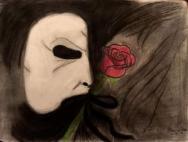 POTO mask and rose by NightDreamer37