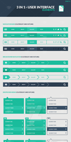 Freebie: 3 in 1 User Interface Elements Kit Part 1 by slayerD1