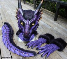 Purple dragon partial by zarathus