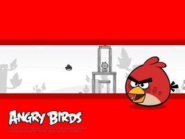 Angry Birds Red Bird Wallpaper by Jeremiekent13