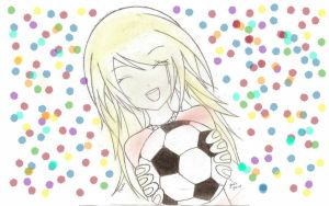 Soccer Girl (Colored) by spark41