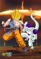 Goku vs Frieza V2 by kingvegito