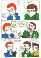 Meeting Wesker jr by LittleWerewolfX3