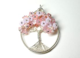 Cherry Blossom Tree of Life by LoneWolfjewelry