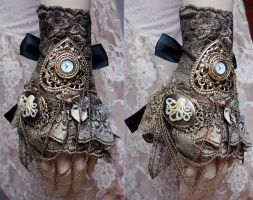 Octopus ruffle watch cuff by Pinkabsinthe