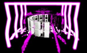 Cool Purple neon stage by chocosunday