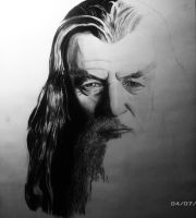Gandalf drawing (still in process) by Benecry1342