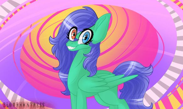 Art trade with ThisDileriousGal by Bloodhuntress44