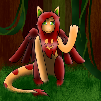 Zyla sit in the forest by XzylaX