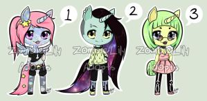 Pastel Universecorns - OPEN by zombielily