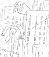 Batman Over Gotham by BobTheEgg