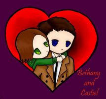 Bethany and Castiel by nightwing6497