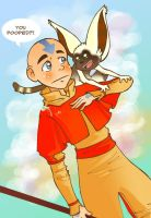 Aang and Momo by jiggly