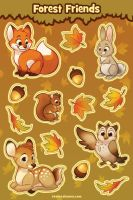 Forest Friends Sticker Sheet by autogatos