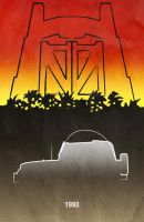 Movie Car Racing Posters - Jurassic Park Jeep by Boomerjinks