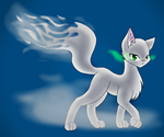 Ghostly Kitty (Full Body) by KittyDragon619