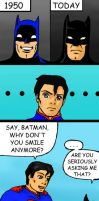 Why Batman doesn't smile by Coffin-chan