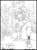 Lucy - Fairy Tail lineart by diabolumberto