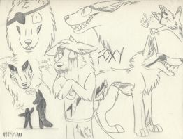 Foxy The pirate SKETCHES by xRainbowDawnx