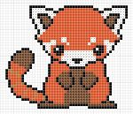 Red Panda pattern by Zaraphena